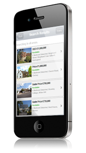 apple iphone mobile estate & letting agents web site